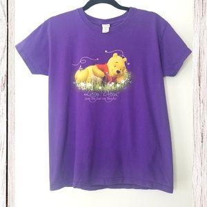 Disney Store Winnie the Pooh Purple Sparkle Tee